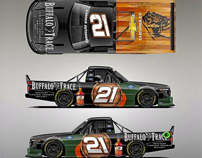Buffalo Trace Livery 2020 Chevy Silverado NASCAR Truck