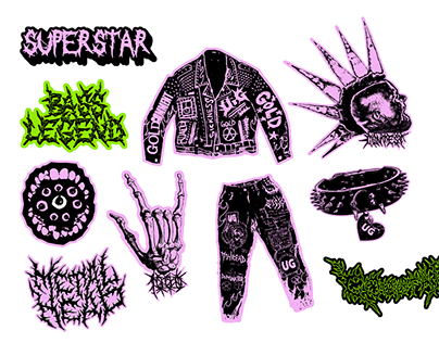 punk stickers pack