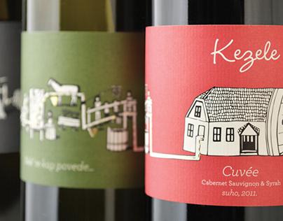 "Wine label design ""Kezele"""