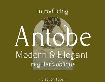 (FREE FONT) Antobe - Modern Serif
