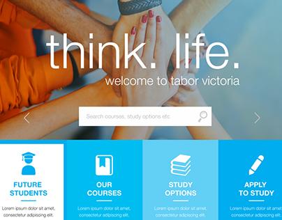 Tabor College Website Creative