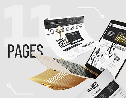 Adaptive design for a multi-page website of a marketing