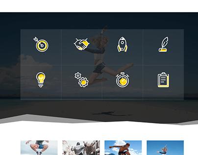 Elementor landing page, WordPress website, squeeze page