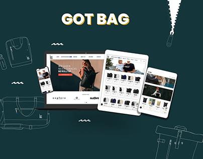 GOT BAG Web design | E-commerce