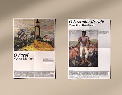Folheto informacional para Museu de Arte