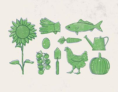 Green Garden Post Card