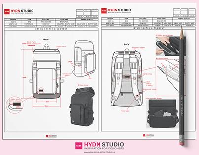 Fashion Tech Pack Templates A4 size