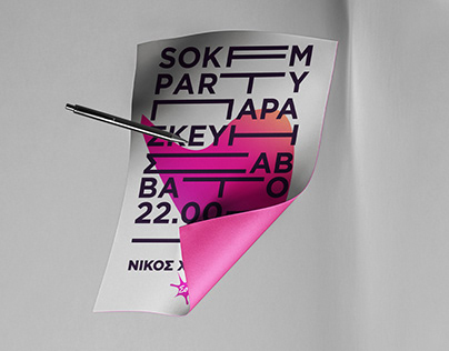 Typography and Shapes Poster