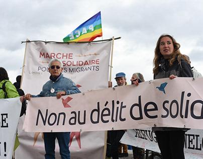 Marche solidaire pour les migrants - Version reportage
