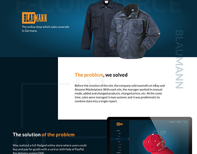 WEBSITE : for online shop which sales coveralls