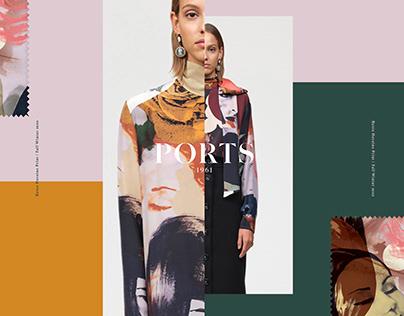 Ports 1961 Heroine Print & Invite design