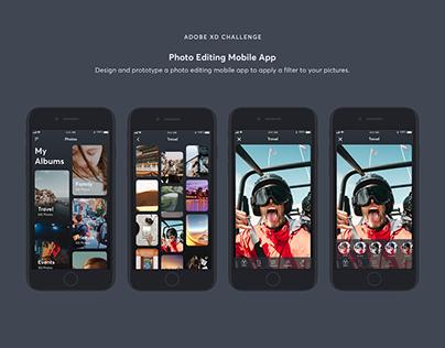Adobe XD Creative Challenge - Photo App