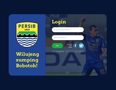 Web Login Screen Persib - UI UX Design