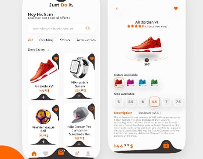 redesign nike app - ux/ui design