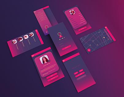Go-Gal - Creative Conscience brief- App concept and UI