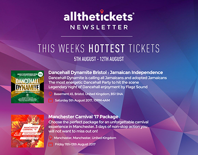 All The Tickets E-Mail Newsletter