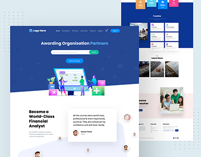 Accounting Courses Home Page Design
