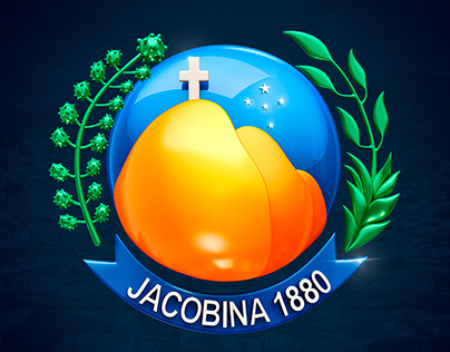 Logo 3d brasão Jacobina Bahia