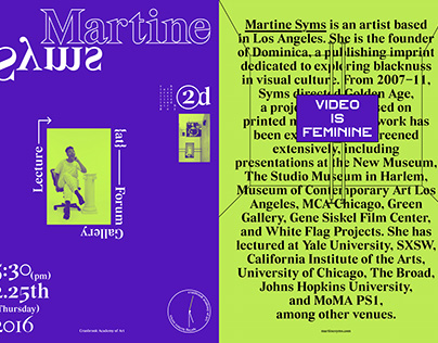Martine Syms Lecture Poster