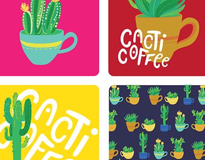 Cacti Coffee Branding