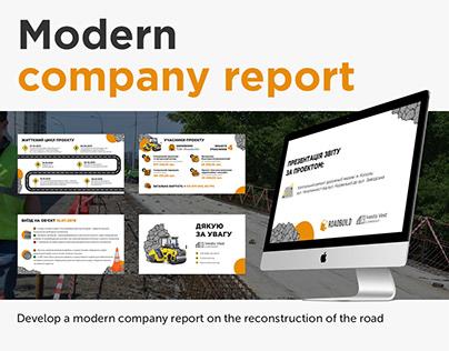 Presentation company report