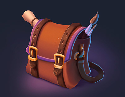 Game icons. Development of magic items for games