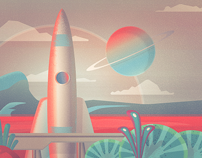 Retro Future Illustrations