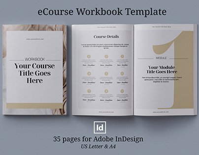 eCourse Workbook InDesign template