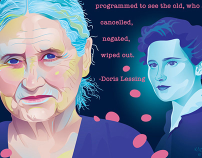 Double Portrait of Doris Lessing