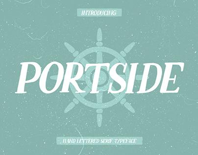 PORTSIDE - FREE HAND DRAWN SERIF FONT