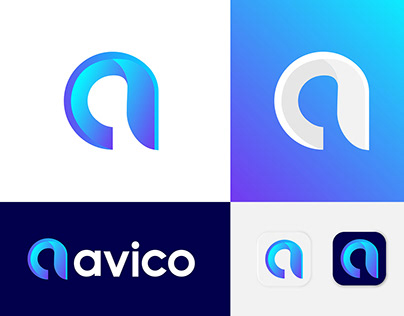 Modern A Letter - Avico Logo Design