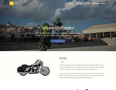 Moto Show Landing Page Web Design