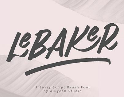 FREE | LeBaker Sassy Brush Font