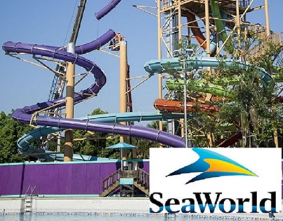 (Hip & Valley) SEAWORLD AQUATICA WATER SLIDE