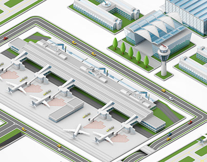 Munich Airport Miniature