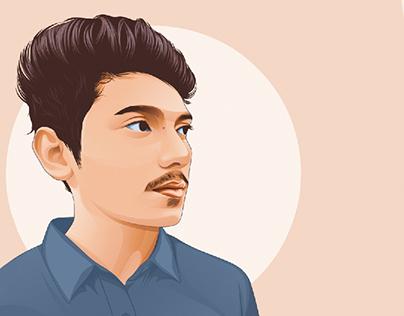 Vector portrait ( Regular style )