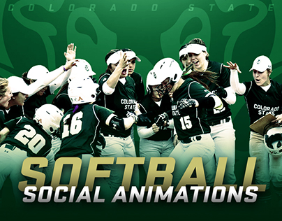 Colorado State Softball 2017 Social Animations