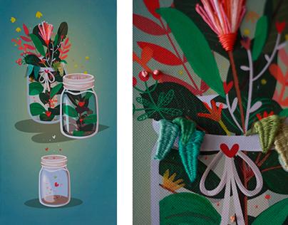 """""""Siete Amores"""" Exposición individual de ilustración"""