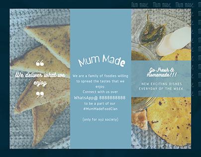 MumMade - A menu layout