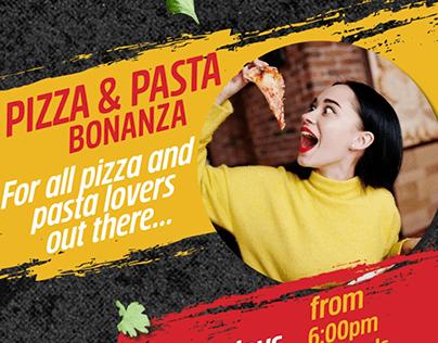 Revier Dubai - Pizza Pasta offer - Social media