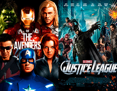 DC Marvel - Parallel Universe Posters
