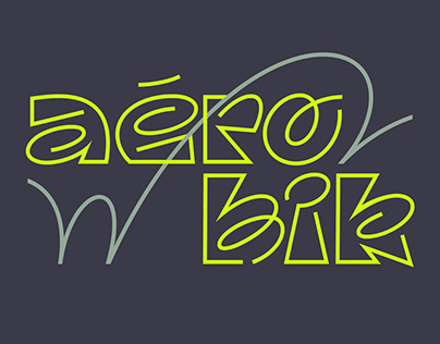 Aérobik typeface