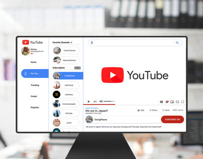 Re-Designing, Re-Branding YouTube UI UX
