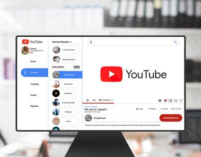 Re-Designing, Re-Branding YouTube UI UX