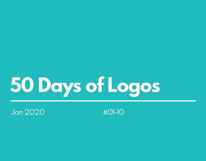50 Days of Logos - 1-10