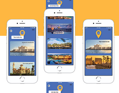 Design mobile app to book trips