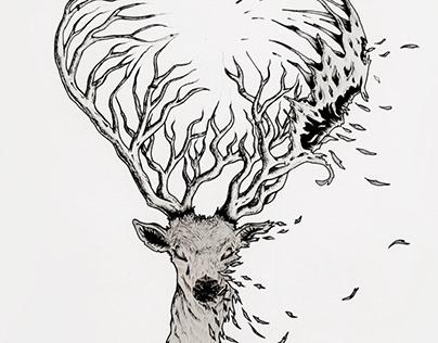 Endangered Animals Series: Kashmir Red Stag