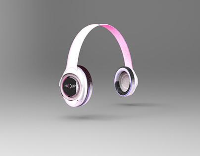 Headphones. Angel White