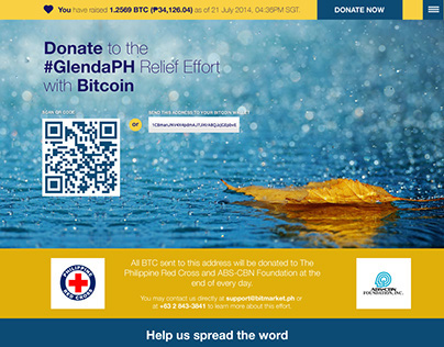 Relief Effort: Donate with Bitcoin (Philippines)
