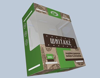 Сardboard packaging for fresh mushrooms